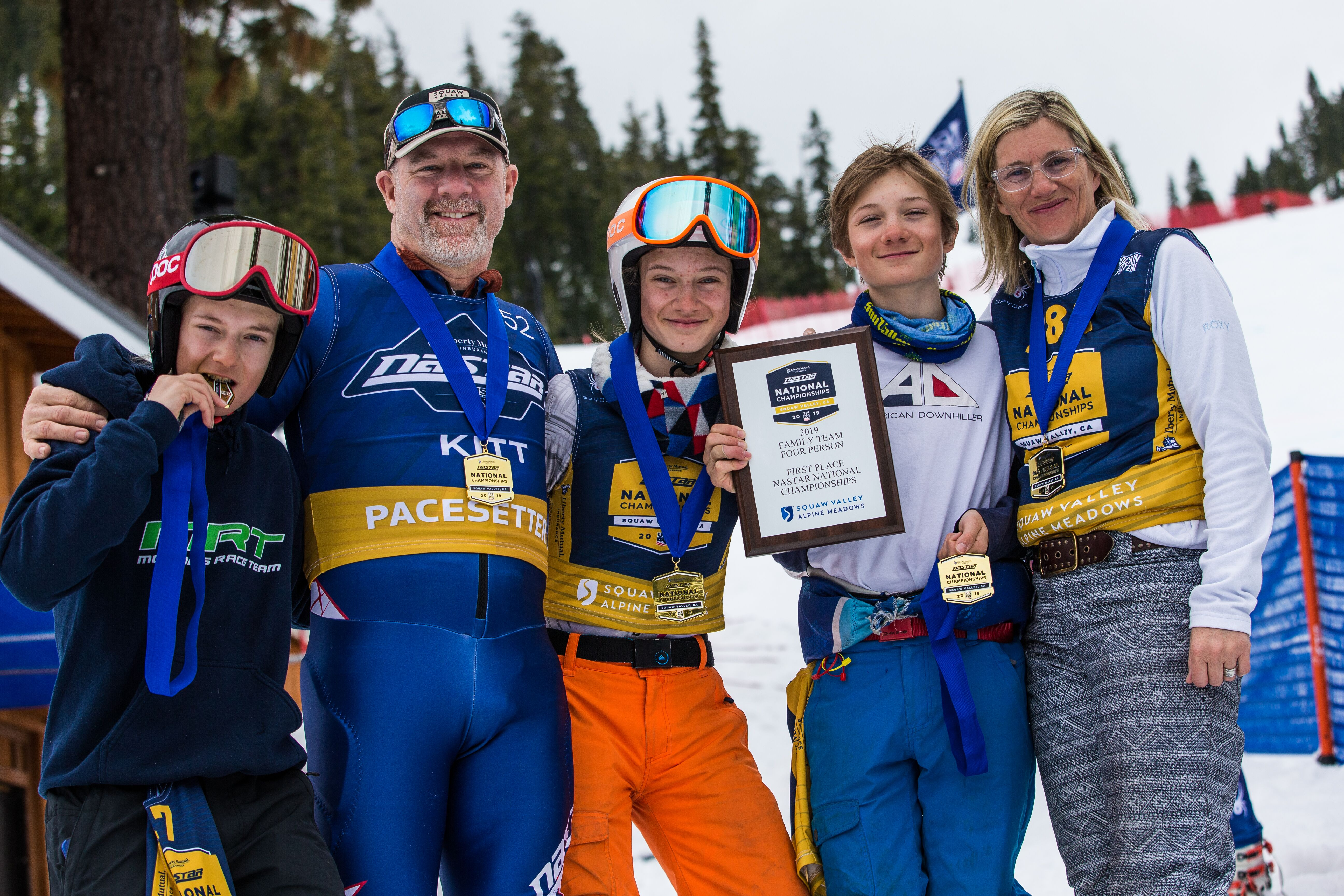 The Kitt Family took first place at the Nationals in the Family Team Race